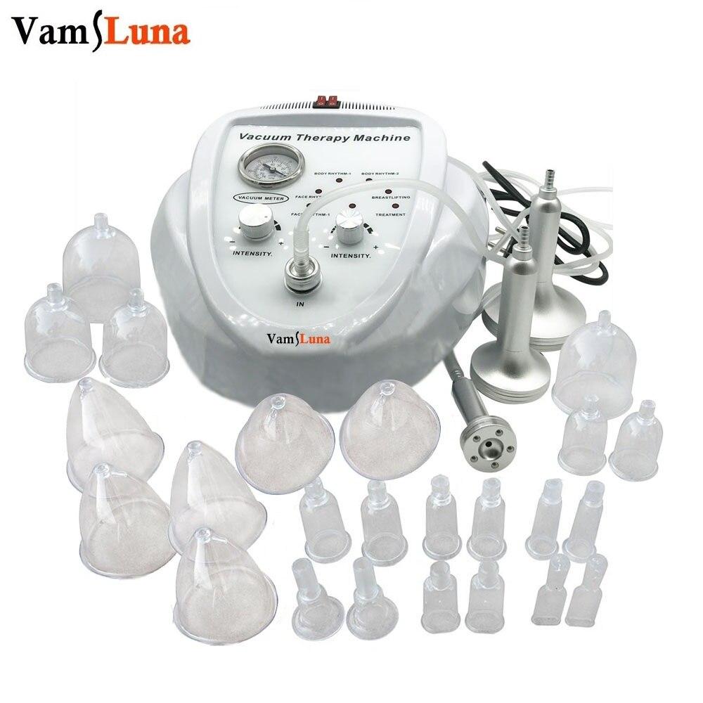 Vamsluna vácuo máquina de massagem terapia aumento da bomba de elevação do peito realçador massageador copo e corpo moldar dispositivo beleza