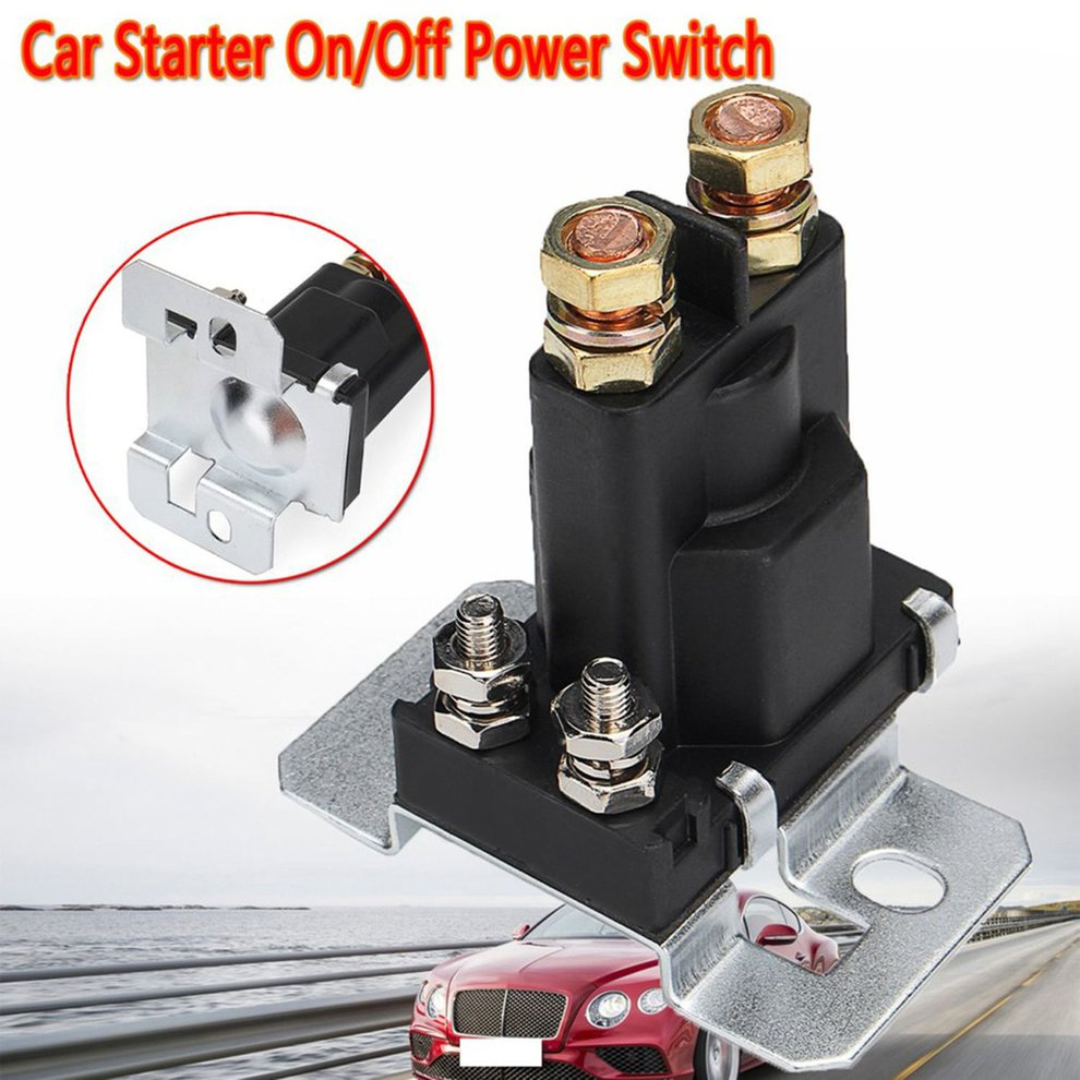 Interior Parts Auto Replacement Parts Trend Mark 4 Pin 12v Amp 500a Relay Car Starter On/off Power Switch Dual Battery Isolator Exquisite Craftsmanship;