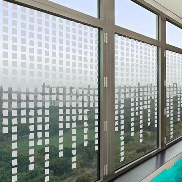 Geometric Diamond Shape Design Frosted Decorative Window ...