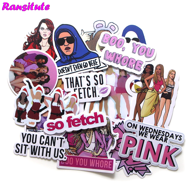 R339 19 Pcs/set Mean Girls Graffiti Sticker Kids DIY Skateboard Laptop Luggage Mobile Phone Bike Bicycle Waterproof Sticker