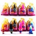 4 Trolls Pçs/set 2016 Novo Filme PVC Figuras de Ação Brinquedos Com Caixa Ramo de Papoula Critter Skitter Trolls Brinquedos Para As Crianças