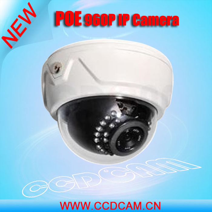 CCDCAM HD 960P POE Power Supply High Resolution IP Camera Indoor Dome 30pcs IR Night Vision Remote Monitoring