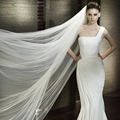 One-Layer wedding long veil 3M wedding veil with comb white bridal veils  mesh veils for bride WAS10034-1