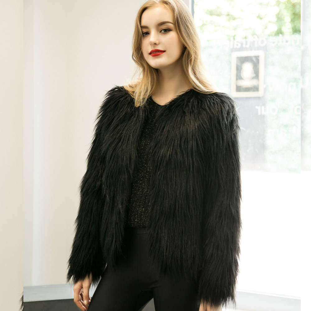 Chic Soft Faux Fur Coat 9
