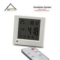 Controle remoto de Equivalente co2 regulador de gás 3 ventilador de velocidade para o escritório  sala de conferências Peças de purificador de ar     -