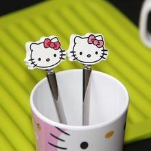 Cute Cartoon Baby Spoon Children Kids Tableware Baby Feeding Tools Ice Cream Coffee Spoon Red Pink