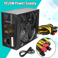 1850W MAX Miner Mining Power Supply 6 Pin For Antminer S9/S7/A7/A6/L3/R4 Bitcoin Coin Miner Computer Power Supply For BTC