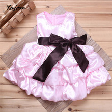 2017 New Hot Sale  Toddler Baby Girls Bowknot Princess Tutu Dress Kids Bridesmaid Party Costume Brand New High Quality Mar 6