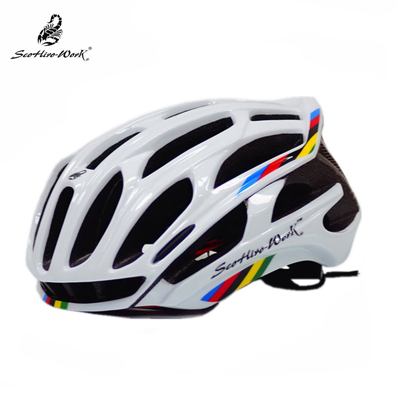 Ultralight Integrally-molded Cycling Helmet 36 Air Vents Road Bike Helmet With Back Light For Nigh Riding casco ciclismo