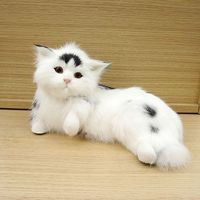 cute simulation cat toy polyethylene & furs sleeping naughty cat doll gift about 23x14x12cm 2387