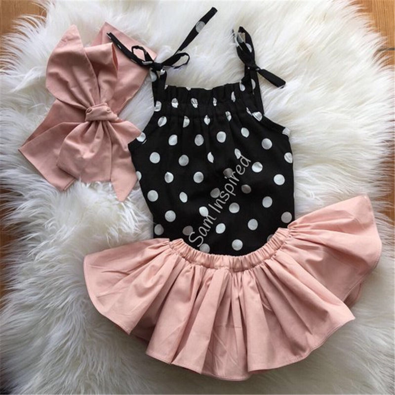 Emmababy Newborn Baby Girl Off Shoulder Clothing Sets 3Pcs