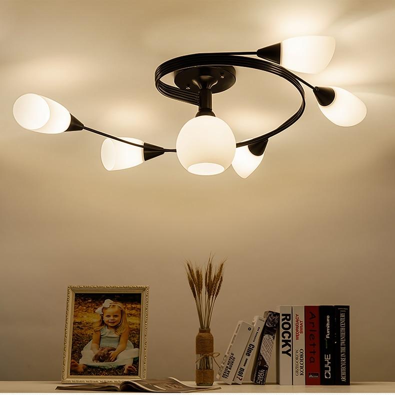 Deckenleuchten & Lüfter Vintage Decke Lichter Für Home Beleuchtung Leuchte Mehrere Schmiedeeisen Decken Lampe Wohnzimmer Lamparas De Techo