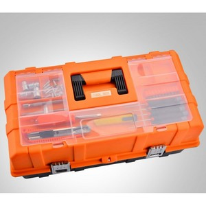 Image 3 - Caixa de plástico de ferramentas multi camada, 17 polegadas, 19 polegadas, caixa de ferramentas, ferragem, caixa de reparo multifuncional casa, carro caso do recipiente da ferramenta