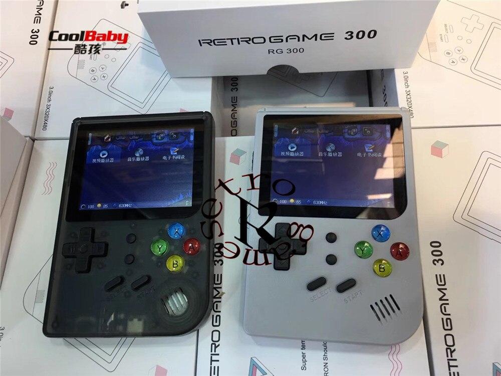 Nouveau 3 pouces jeux vidéo Portable rétro console rétro jeu jeux de poche Console joueur RG300 16G + 32G 3000 jeux Tony system