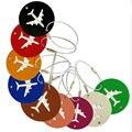 Alta Qualidade 5 Cores acessórios de viagem Seguro de Viagem Mala de bagagem tag Avião Forma Redonda Portátil rótulo melhor amor