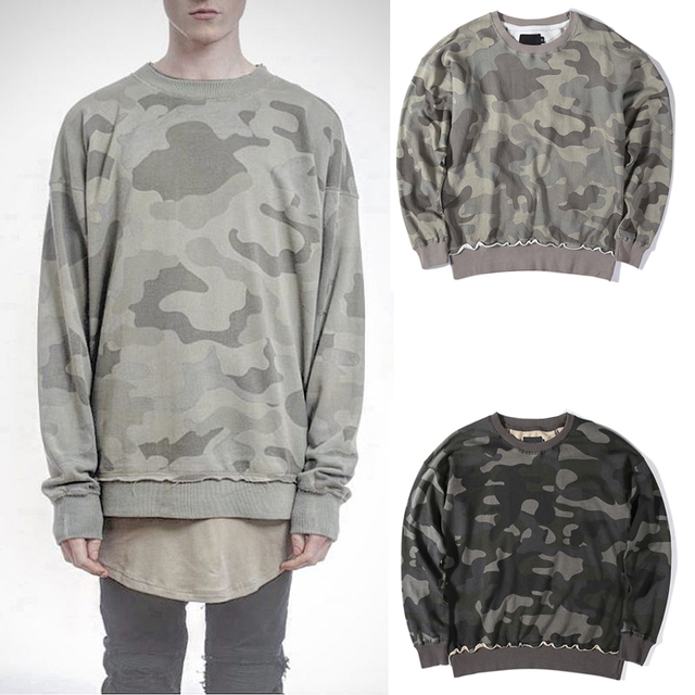 Camo hoodies Men sweatshirts tide brand hip-hop camouflage hiphop streetwear swag clothes hoody pullovers kanye clothing