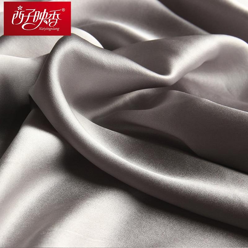 100% Naturliga Silk Scarves and Shawls Winter Women Silk Scarf 2018 - Kläder tillbehör - Foto 6