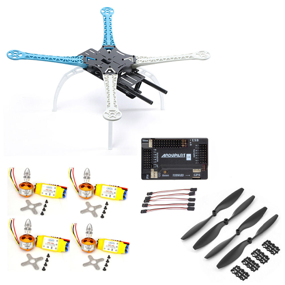 Rc Car Hsp S500 Quadcopter Frame W/ Apm2.6 Flight Controller Xxd 2212 30a