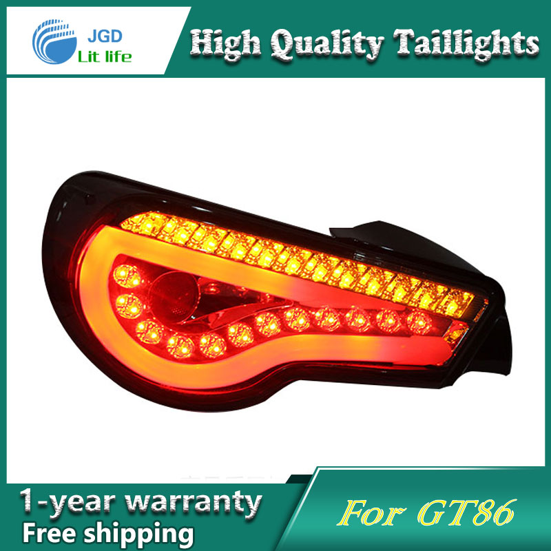 Car Styling Tail Lamp for Toyota GT86 FT86 taillights Tail Lights LED Rear Lamp LED DRL+Brake+Park+Signal Stop Lamp car styling tail lamp for toyota corolla led tail light 2014 2016 new altis led rear lamp led drl brake park signal stop lamp