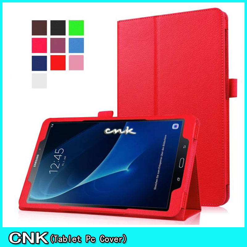 Smart Litchi Style PU Leather Stand Tablet Case For Samsung Galaxy Tab A 10.1 2016 T580 Case Flip Cover For Tab A LTE/Wifi T585