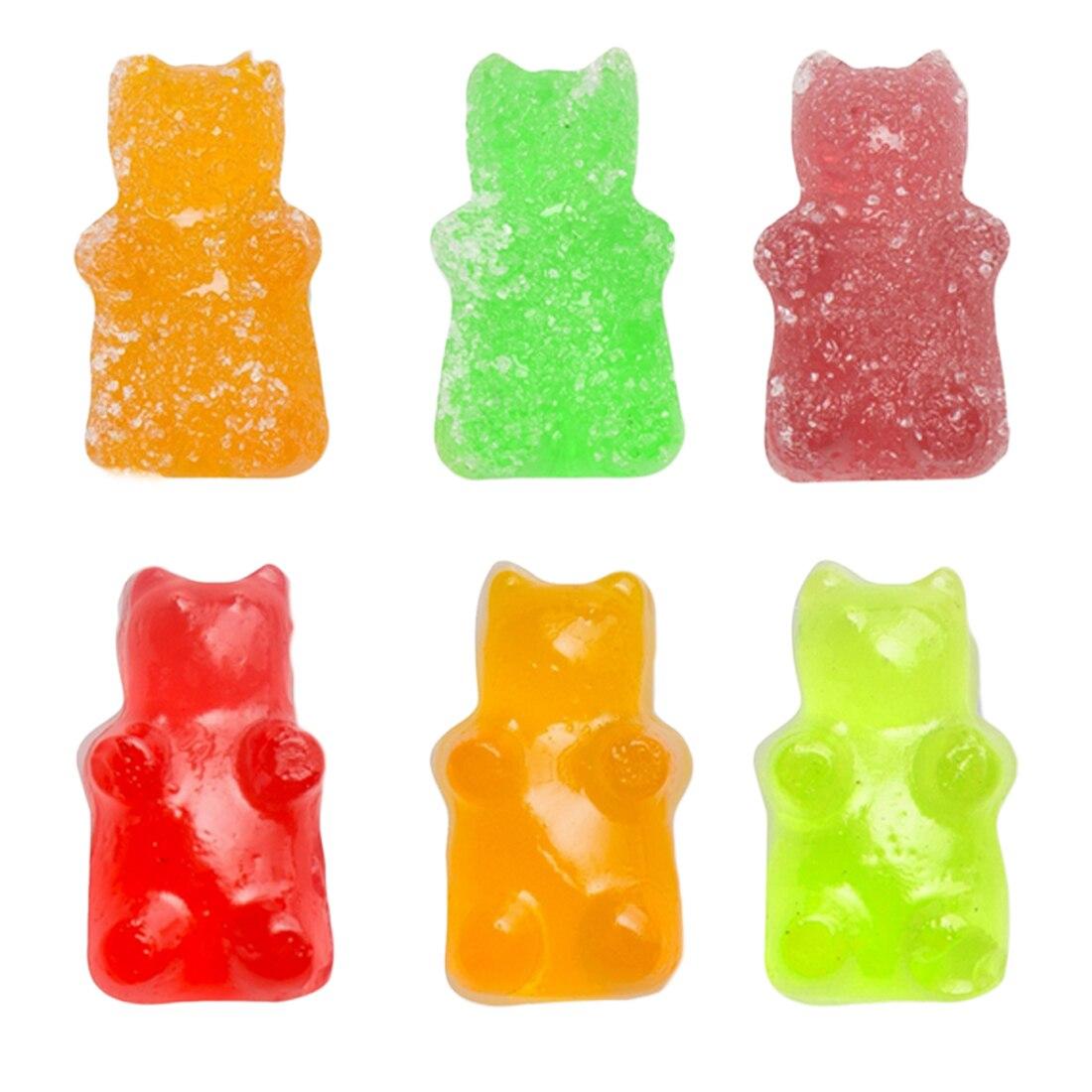 Горячее предложение 50 полость липких медведей жесткий конфеты шоколадные силиконовые мыло льда лоток для выпечки формы с капельницей