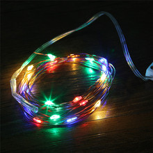 2M 20 LEDs Christmas Garland Copper Wire LED String Lamp Fairy lights For Indoor New Year Xmas Wedding Decoration цена и фото