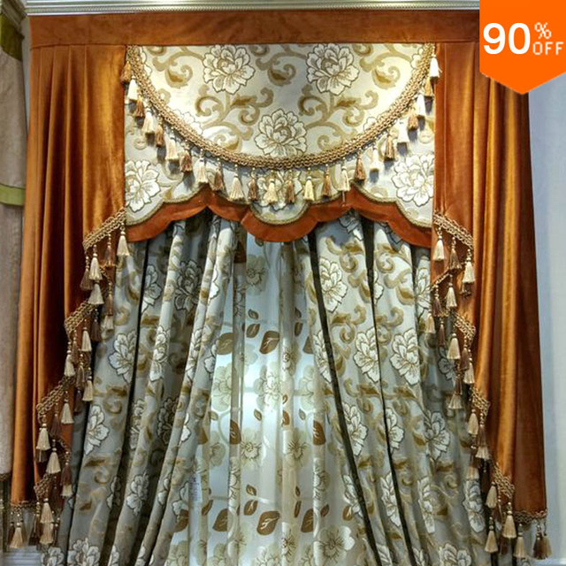 Ultimate Cloud Velvet flowers curtains gentle and soft Classic designer's living room bedroom Curtain Dinning Room Hotel Curtain