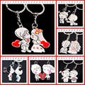 2016 Novelty Items Casual Couple Love Keychain Cartoon Key chain Lovers Key ring Women Wedding Jewelry Accessory Valentines Gift