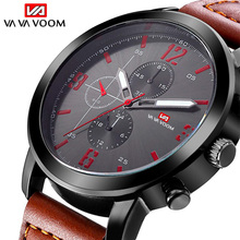 Top Brand Man Watches  WristWatch Luxury Sport clock Leather Men big dial watches Military Mens Analog Quartz relogio