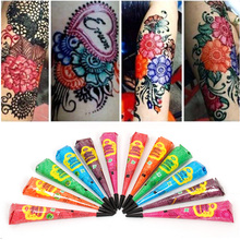 1pcs Black White Indian Henna Tattoo Paste Natural Color Mehndi Henna Cones For Temporary Body Art Painting Sexy Drawing SA232