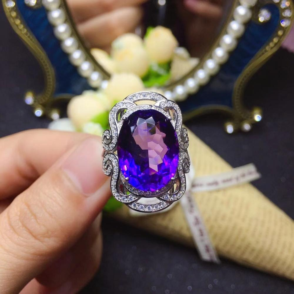 bis sale purple gem ring big size affordable purple Amethyst gemstone ring silver ring women ring natural gem 925 silver jewelry