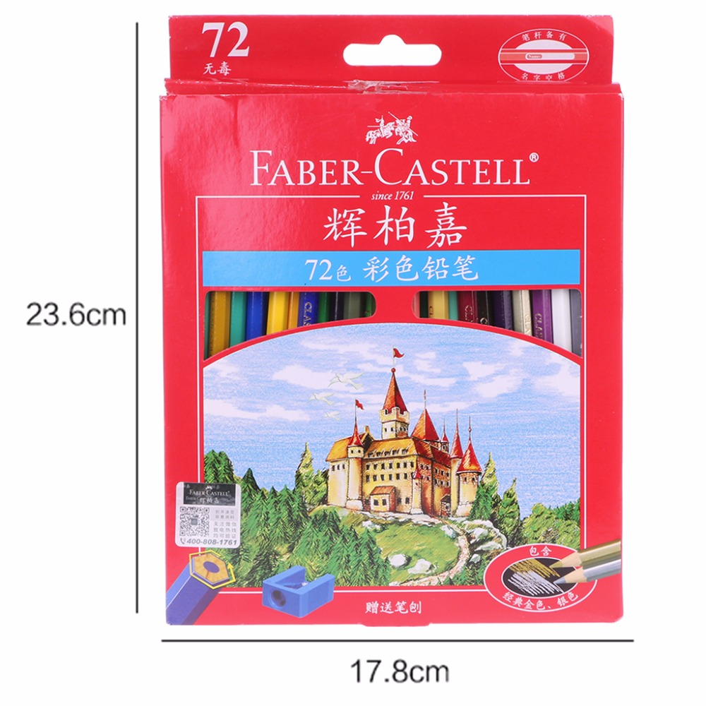 72 pçs faber castell lápis coloridos lapis