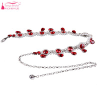 Red Rhinestone Blet Pearl And Crystal Sashes Bohemian Spain Fashion Dancing Wear Formal Gown Accossories ZA020