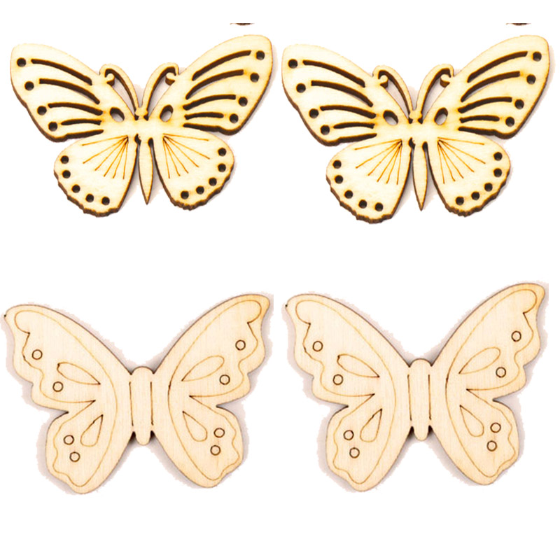 Mixed Butterfly Pattern Wooden Scrapbooking Collection Craft for Handmade Accessory Sewing Home Decoration 32x55mm 5pcs MZ97Mixed Butterfly Pattern Wooden Scrapbooking Collection Craft for Handmade Accessory Sewing Home Decoration 32x55mm 5pcs MZ97