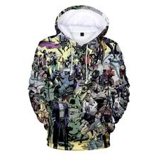 Outono Hoodies Das Mulheres Dos Homens Streetwear Camisolas Com Capuz de Impressão Moda 3D JOJO JOJO 3D Hoodies Top pullovers Dos Homens de Grandes Dimensões