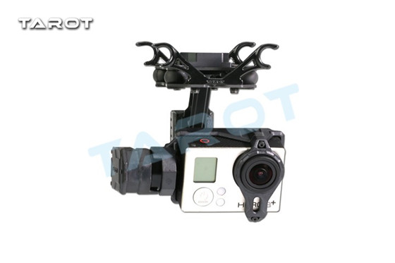 Tarot T2-2D 2 Axis Brshuless Gimbal For Gopro Hero4/3+/3 TL2D01 FPV Gimbal Free Shipping with tracking dji phantom 2 build in naza gps with zenmuse h3 3d 3 axis gimbal for gopro hero 3 camera