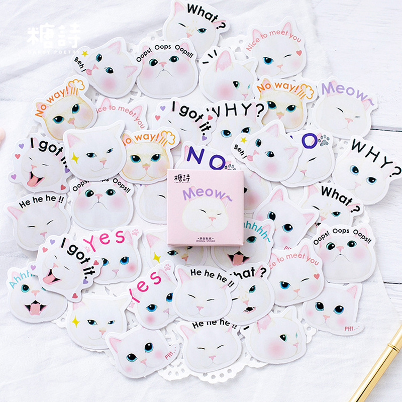 45pcs Cute White cat princess Stickers Stationery Creative DIY Diary Scrapbook Decoration Sticker Pack Kawaii Papeleria TZ25945pcs Cute White cat princess Stickers Stationery Creative DIY Diary Scrapbook Decoration Sticker Pack Kawaii Papeleria TZ259