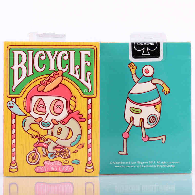 1pcs Bicycle Brosmind Deck USPCC Playing Cards Poker Size Custom Art Limited Edition for Collection Magic Tricks Children Gift