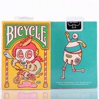 Padrão bicicleta brosmind bicicleta baralho tamanho uspcc jogando cartas de poker personalizado art edição limitada magic truques