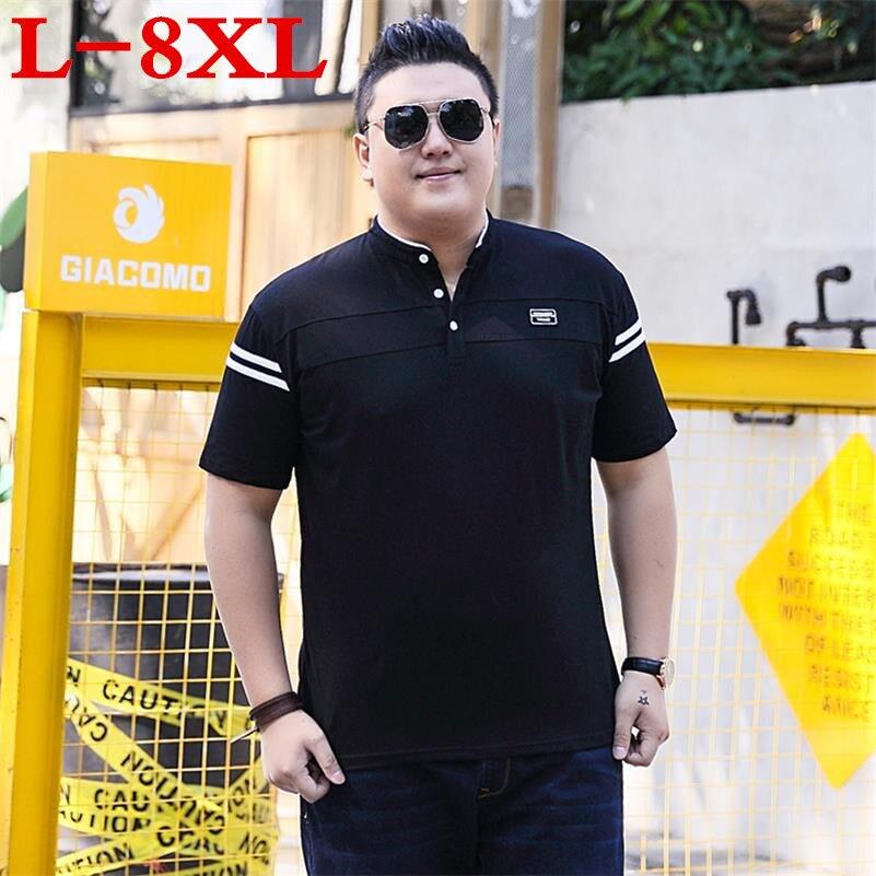 8XL 9XL10XL grande taille nouveau 2018 marque été à manches courtes t-shirts hommes coton mode t-shirts grande taille v-cou Village imprimer vêtements