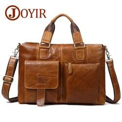 JOYIR Натуральная кожа Мужская сумка почтальон кожаный портфель для ноутбука для мужчин Кожаная офисная сумка на плечо для мужчин кожаная сум...