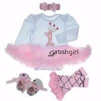 Birthday Pink Tutu Dresses 1ST Newborns Baby Girl Romper Tutu Dress Set Toddler Infantil roupas de bebe baby clothes NB 24 month