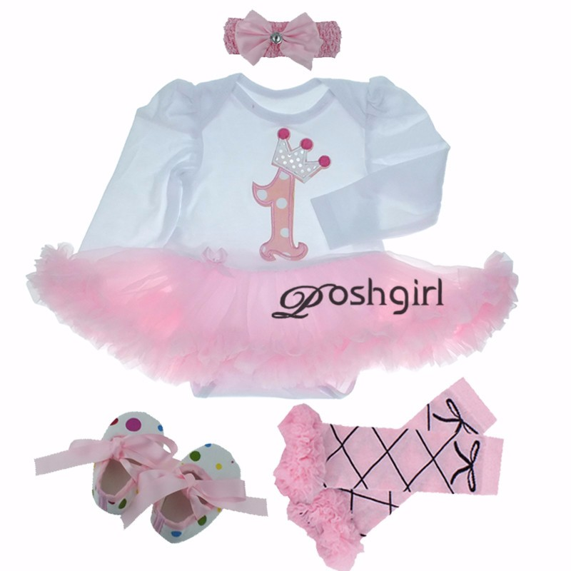 Birthday Pink Tutu Dresses 1ST Newborns Baby Girl Romper Tutu Dress Set Toddler Infantil roupas de bebe baby clothes NB-24 month pink 1st birthday outfits for girls newborn infant lace tutu dress romper set 2017 vestido infantil toddler romper dress clothes