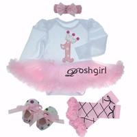 Cumpleaños tutú Rosa Vestidos 1st recién nacidos mameluco del bebé del vestido del tutú infantil roupas de bebe Bebé Ropa nb-24 mes
