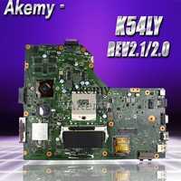 Akemy k54ly placa-mãe do portátil para asus k54l k54ly x54h x54h k54hr x84h teste original maiboard nboard rev2.1/2.0 pm