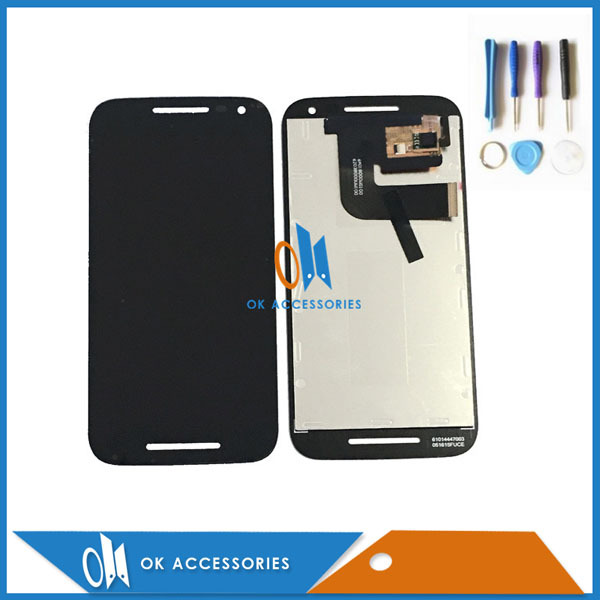 Black White For Motorola MOTO G3 G 3rd Gen XT1544 XT1550 XT1540 XT1541 LCD Display With Touch Screen 1PC/Lot With Free Tools