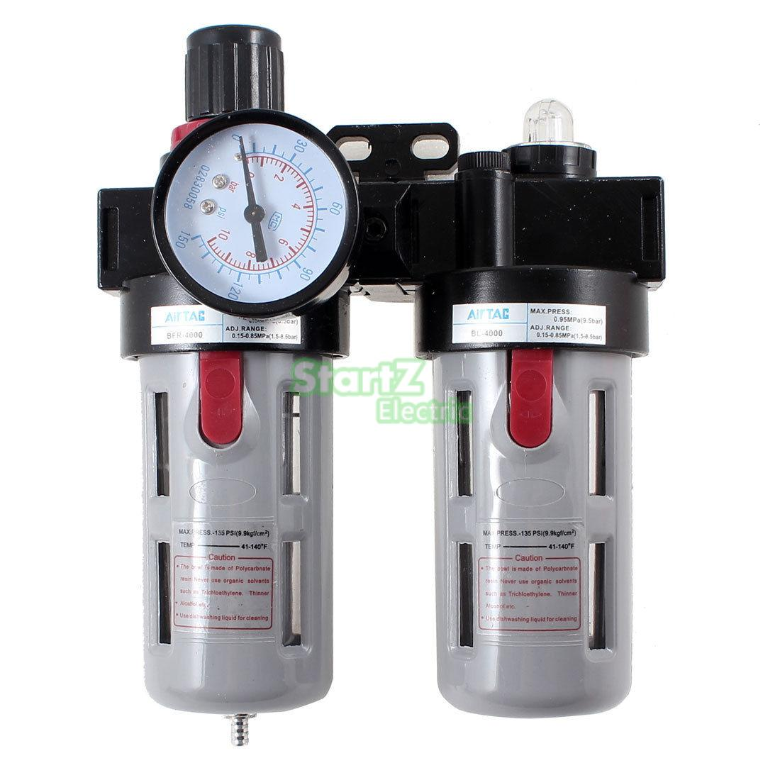BFC4000 Air Source Treatment Filter Regulator Lubricator Combination