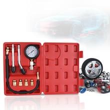 가솔린 엔진 압축 시험기 자동 가솔린 가스 엔진 실린더 자동차 압력 게이지 테스터 자동차 테스트 키트 0 300psi