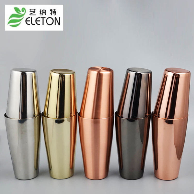 ELETON American Style Boston Shaker Cocktail Shaker Tin Tin Shaker Stainless Steel Bar tool