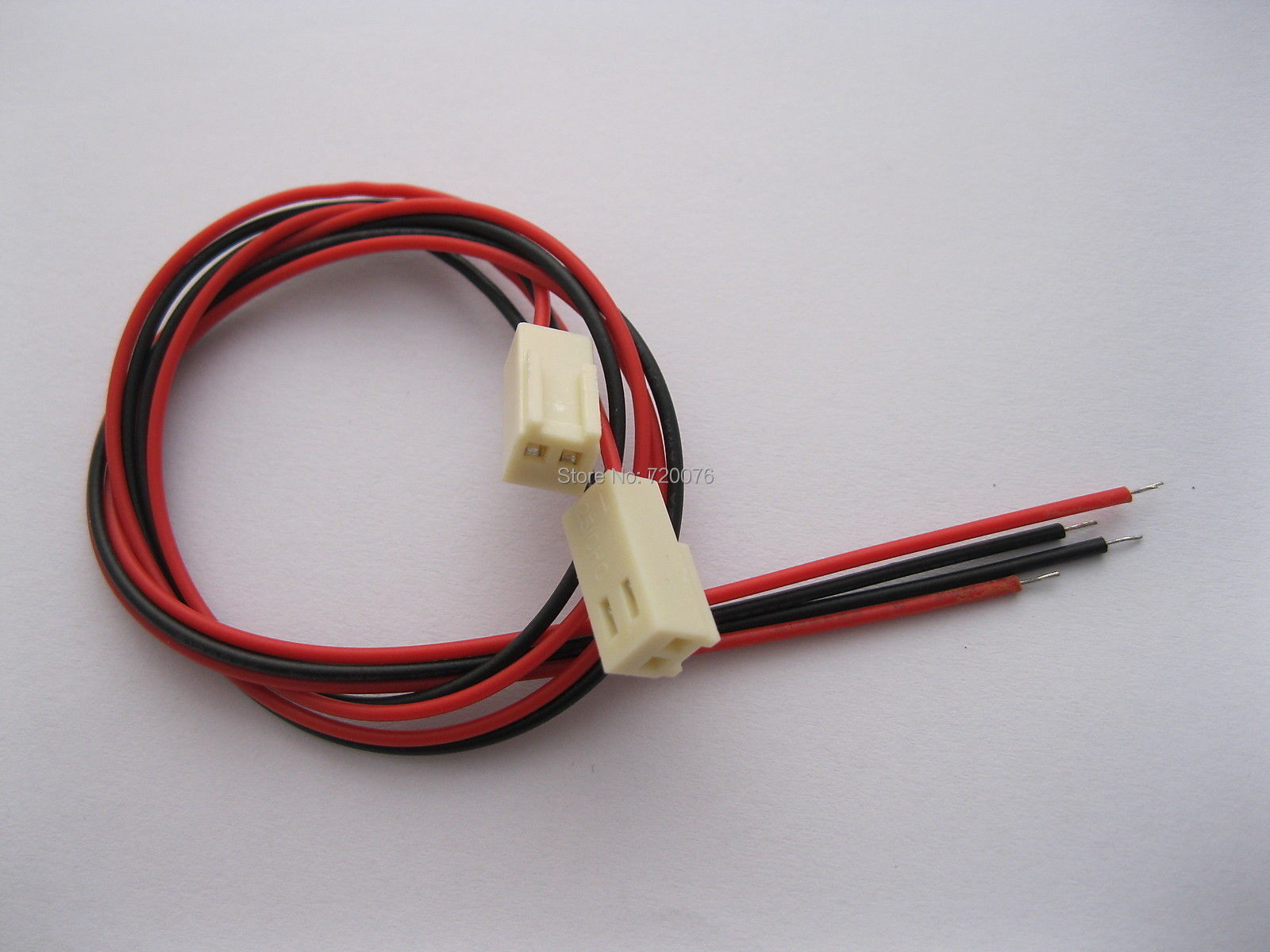 500 stks 2510 2.54mm Pitch 2 Pin Vrouwelijke Connector met 26AWG 300mm Leads Kabel - 3